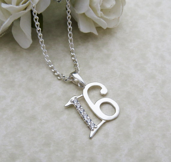 Personalized 16th Birthday Necklace 16th Birthday Gift 16th