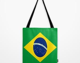 Tote Bag Brazil Canvas Bag Brazil Flag Tote Bag Brazil Flag Canvas Bag Rio Olympics Tote Bag International Country Flag Tote Rio Bag