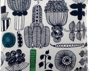 "Marimekko 18x18"" Puutarhurin Parhaat cushion cover pillow case,   Finland, gray green"