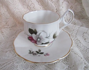 English Floral Tea Cup and Saucer