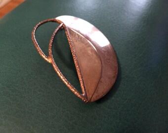 Lunt Vintage Sterling Silver 14 Karat Gold Pin Pendant Marked