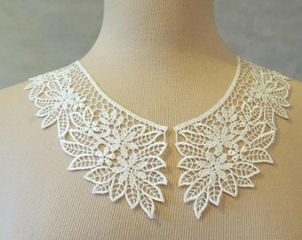 Ivory Lace Collar
