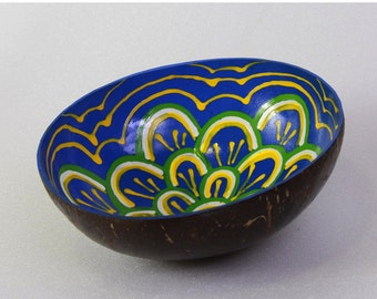 Classic Oriental Decorative Multipurpose Handmade Coconut Shell Handcraft Bowl (PC 27)