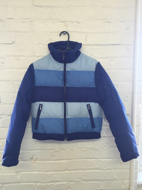 "Vintage ""Mountain Products"" Blue 70s 80s Ski Coat size S"