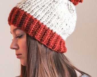 Women's Slouchy Knit Hat with Pom Pom - The Terry Hat