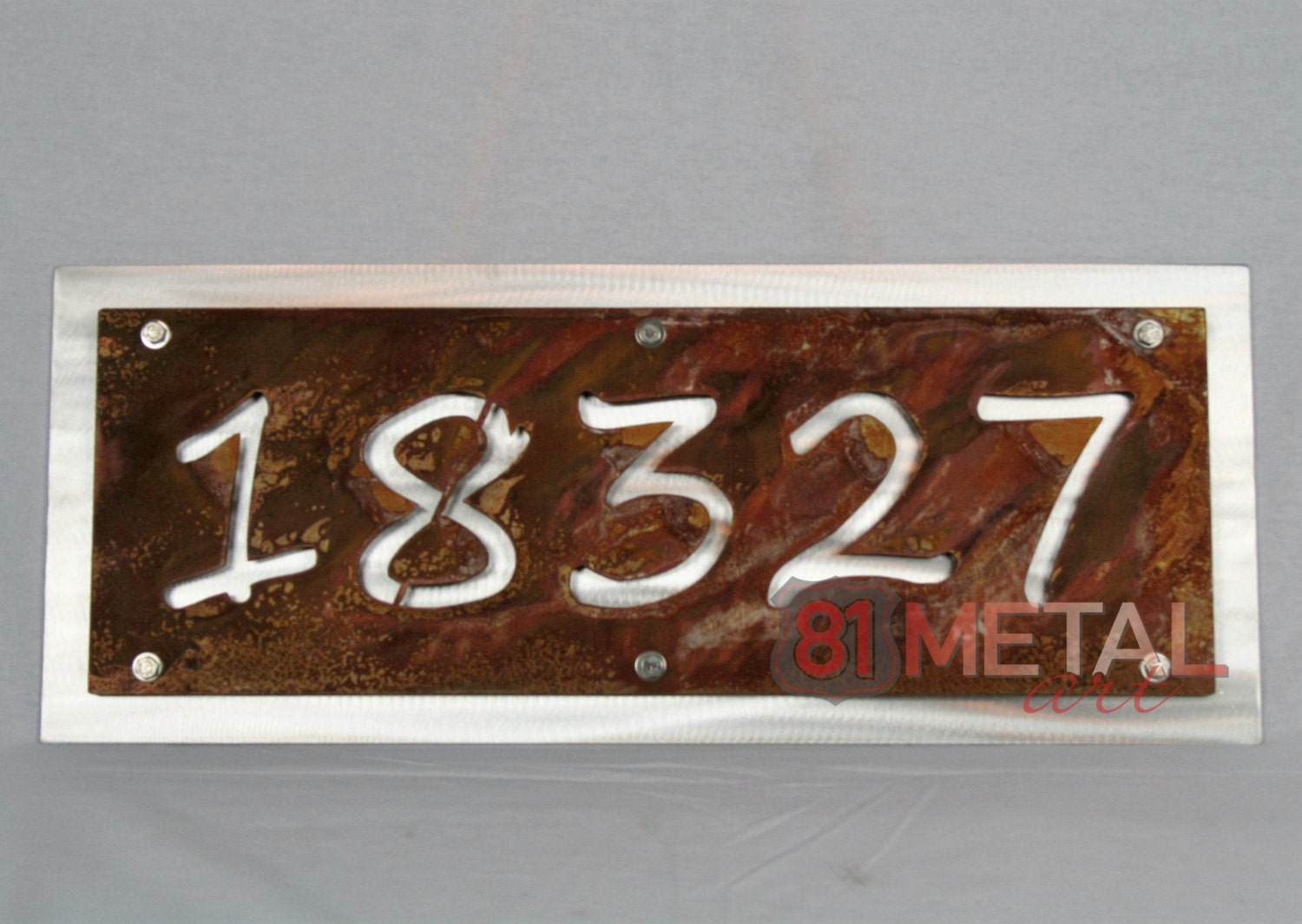 Personalized Street Signs >> Rustic Address Number Plaque House Number Sign Rustic