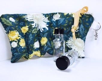 Essential Oil Bag, Blue Floral Essential Oil Bag, Essential Oil Storage, Young Living Oil Essential Oil Case, Roller Ball Bottles