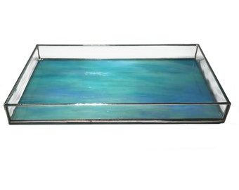 Tray Opalescent Stained Glass - Large