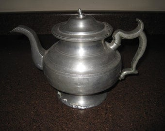 Vintage metal teapot coffee pot