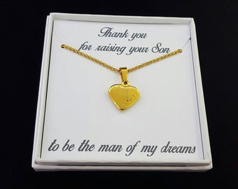 Mother Of The Groom Gift - Thank You Gift - Wedding Gift - Mother in Law Necklace - Heart Necklace - Bridal Party Gift - Wedding Party Gift