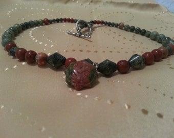 Sun necklace, beaded necklace