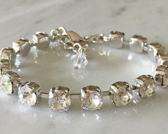 Swarovski Petite Crystal Bracelet,  Crystal Bracelet, Crystal Tennis Bracelet, Crystal Bridesmaid Bracelet, Crystal Bridal Bracelet