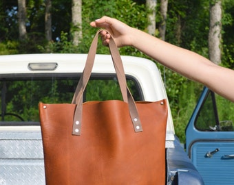 Butterscotch Leather Tote No. 13