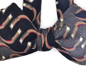 Silk Bow Tie for Men -  Buzz  - One-of-a-Kind, Handcrafted, Self-tie - Free Shipping