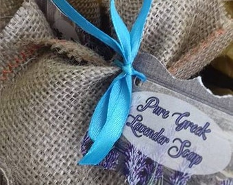 Greek pure olive oil soap  or lavender   100gr. wedding / baptism / birthday favors