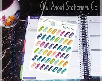 Medicine or Vitamin Tracker Stickers - QSMVT