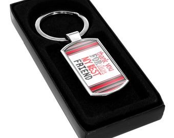 Keyring Thank you for being my BEST FRIEND Gift Idea Present mates cute