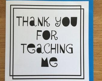 teacher card/ thank you teacher
