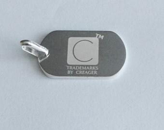 Sterling Silver Mini Dog Tag
