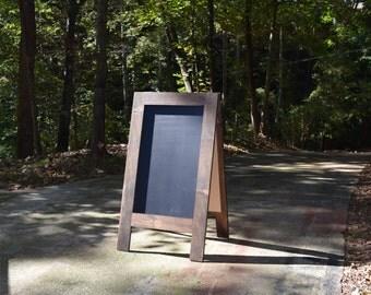 Large Chalkboard Easel; Double Sided Chalkboard; Sidewalk Chalkboard; Wedding Chalkboard Easel