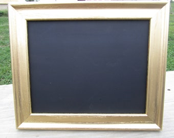 Gold frame chalkboard, 8 X 10 chalkboard, 8X10 gold frame, gold frame, wedding chalkboard, wedding decor, painted frame