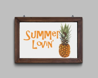 Instant digital download printable summer lovin pineapple