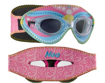 Personalized Giggly Goggles Royal swim goggles, the most fun and comfortable goggles! personalized with name, initials or team name