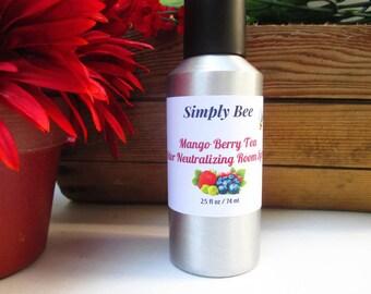 Mango Berry Tea Odor Neutralizing Spray, Room Spray, Deodorizing Spray, Air Freshener, Odor Eliminator, Upholstery Freshener, Linen Spray