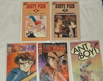 sci-fi comics-manga-lawman-lot of 5-1990s-fair
