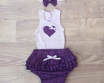 Girl Ruffle Nappy Cover Set - size 00