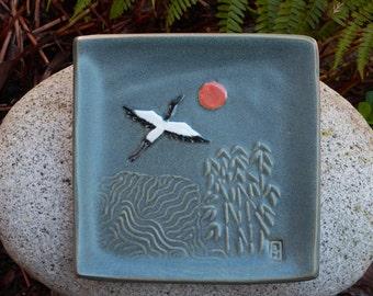 Small crane plate, gray matt