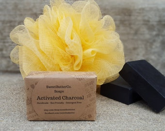 Activated Charcoal Soap - Acne Soap, Handmade Soap, Detergent Free Soap, Unscented Soap, Bamboo Charcoal Soap