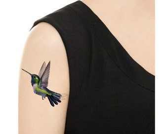 Temporary Tattoo - Hummingbird / Tattoo Flash