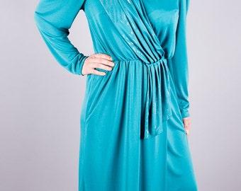 Vintage evening dress of the 60s - turquoise evening dress - cocktail dresses - vintage 1960 - turquoise - shimmering - elegant - hipster - 60s dress