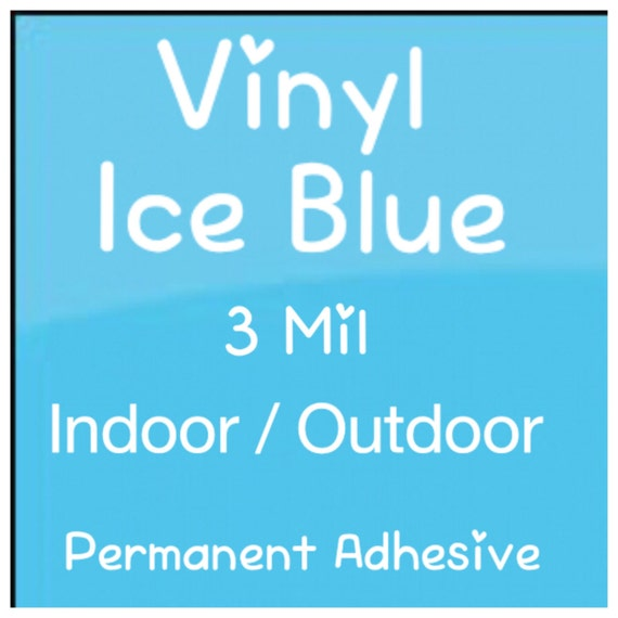 Vinyl Blue Craft Vinyl Premium Vinyl Outdoor Vinyl 3 Mil High