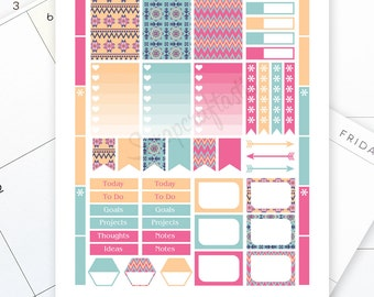 Village Printable Planner Stickers for the Classic Mambi Happy Planner