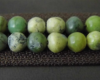 Mossy  Beads, 6mm Beads, Jewelry Supplies