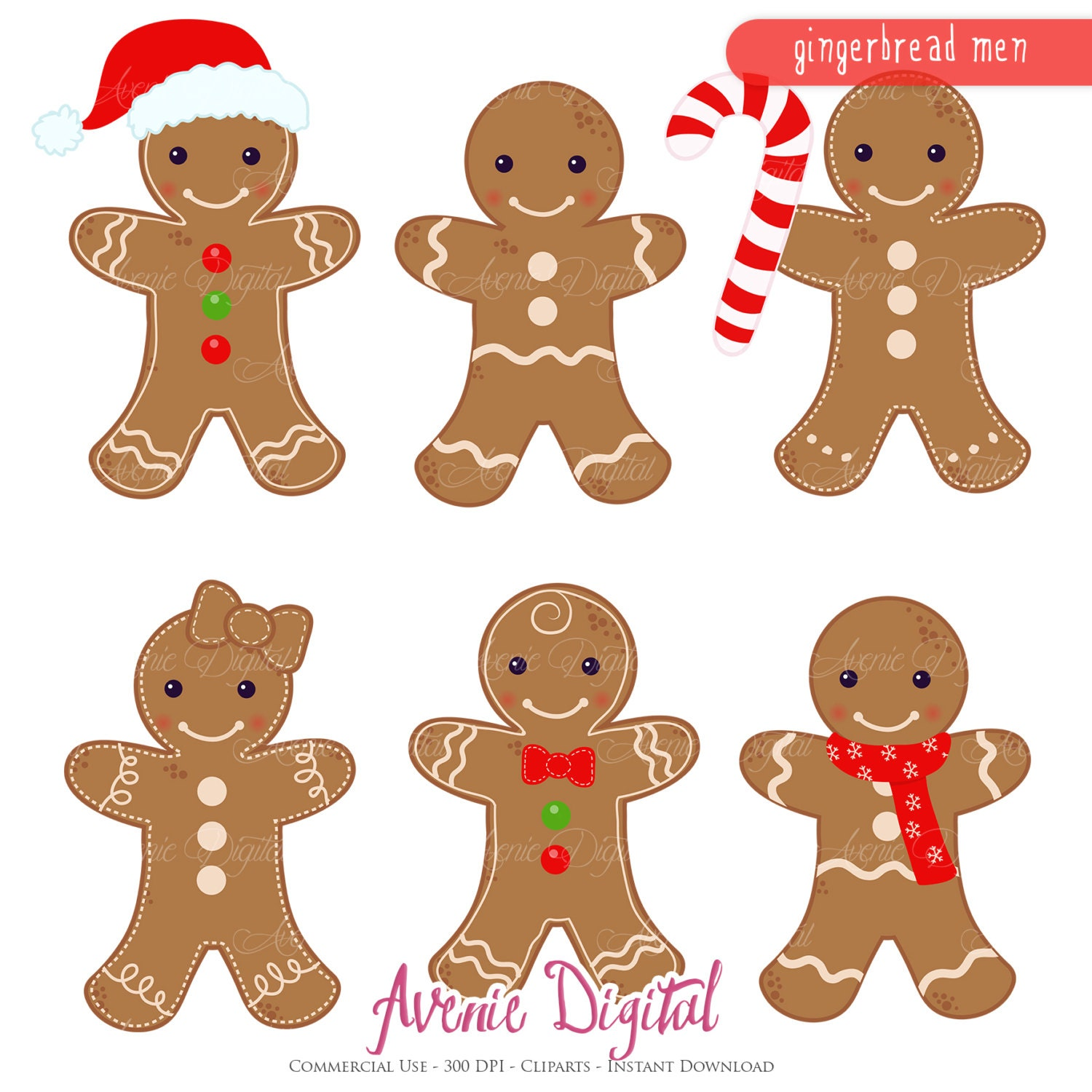 Gingerbread Kitchen Curtains Gingerbread Clipart Etsy