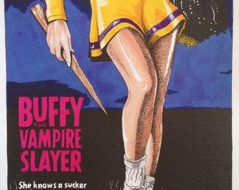 Buffy The Vampire Slayer - 1992 Movie Poster A4 Print