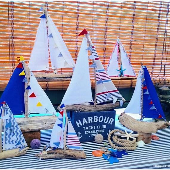 Sailboat Driftwood Boat Yacht Nursery Decor Coastal Decor