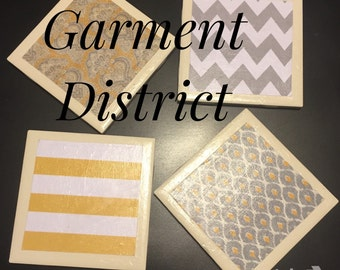 Customized Garment District Coasters