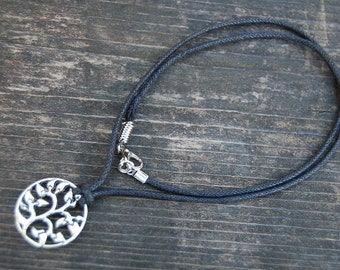 Tree of Life Necklace,Tree of Life Cord Necklace,Choker Necklace,Man,Woman,Spiritual,Men Necklace,Ethnic necklace,Tree of Life Choker