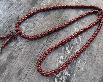 Buddhist Necklace,Barrel Beads,Tibet Buddha,Wood Beads,Spirituality,108 Mala,Prayer,Good Luck,Men,Woman,Yoga Bracelet,Protection,Meditation