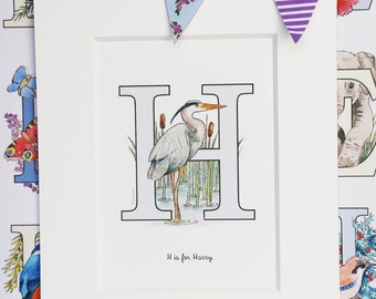 Alphabet Pictures - H : Personalised Prints