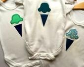 Appliqué IceCream Baby Vest; 6-12 months