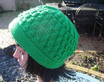 Ladies Hat, Accessories, Handmade Hat, Ladies Hand Knit Hat, Hand Knitted Hat, Womens Hand Made Hat,   Ladies Winter Hat, Winter Hat