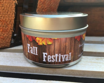 Fall Festival Soy Candle, Fall Candle, Pumpkin, Cinnamon, Fall Decor, Autumn Candle