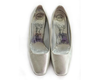 1960s silver lame pumps from Thom McAn