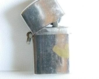 Vintage 1960's Minature Lighter Key Chain -  USED