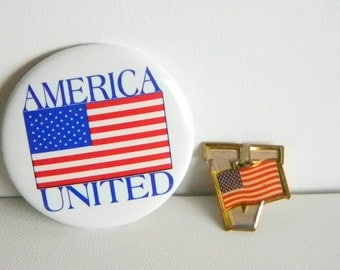 Veterans Tack Pin / America United Pin Patriotic July 4th Red White Blue